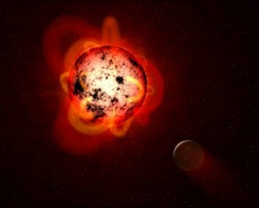 Red-Dwarf Star Pictorial Representation by NASA