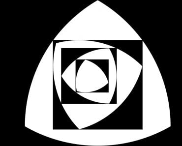 Reuleaux triangle with black and white colors - Vector(Albisoima)s