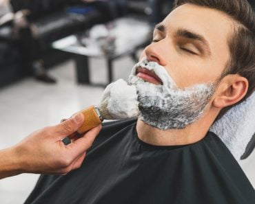 Skillful beautician preparing to shave stubble - Image( Olena Yakobchuk)s