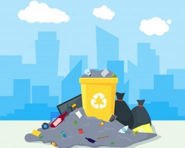 Garbage Dump or Landfill on a Urban Landscape Background Symbol of Pollution Environment(BigMouse)s
