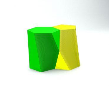 Scutoid geometric shape 3D render - Illustration(BlacKCatPRO)s