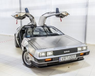 Warsaw Oldtimer Show Delorean DMC-12 car from 1980s movie film Back To he Future(Grzegorz Czapski)S