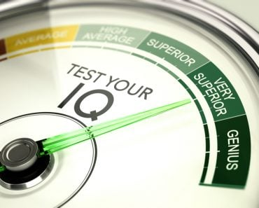 Concept of IQ testing, conceptual gauge with needle pointing very superior intelligence quotient( Olivier Le Moal)s