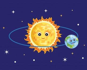 Cute sun and earth against the starry sky(Sunnydream)S