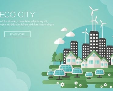 Green eco city and sustainable architecture banner(kotoffei)s