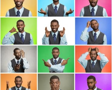 Man mood, behavior changes, swings. Collage young man expressing different emotion( ESB Professional)s