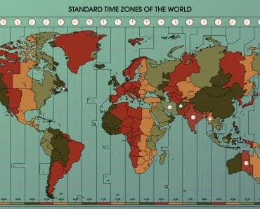 World Map with Standard Time Zones. Cartography Collection(dalmingo)s