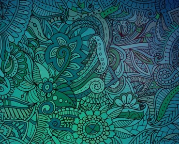 Abstract green zentangle background(ADudkov)S