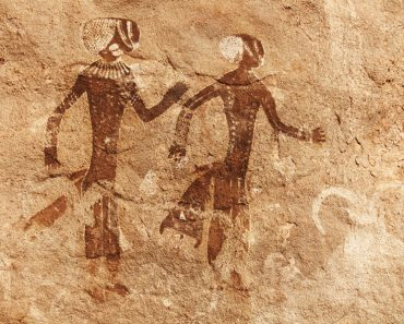 Famous prehistoric rock paintings of Tassili N'Ajjer, Algeria(Dmitry Pichugin)s