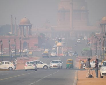 Vehicles moving in the road amidst heavy smog(Saurav022)s