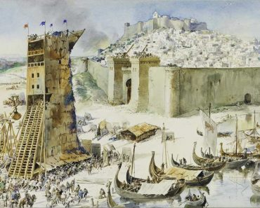 Siege of Lisbon by Roque Gameiro