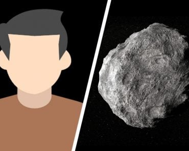 man and asteroid