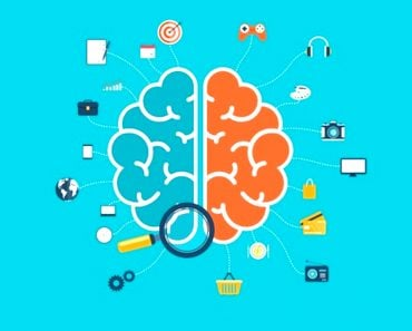 Brain with icons concept for web and mobile apps or infographics(Artram)s