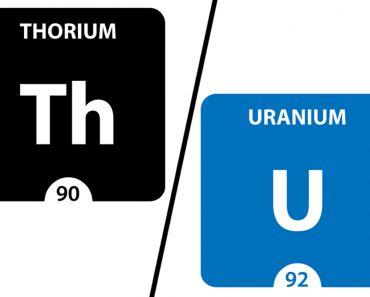 thorium and uranium