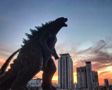 godzilla in city