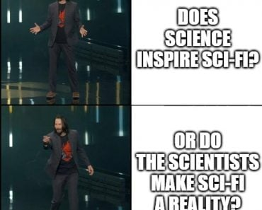 DOES SCIENCE INSPIRE SCI-FI meme