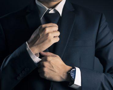Businessman Adjust Necktie his Suit(CHAjAMP)s