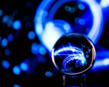 Lense ball with abstract backgroup(Lisa G Johnston)s