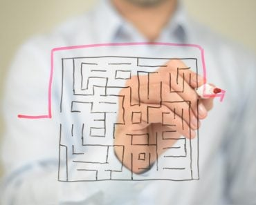 Maze, Shortest Path to Success, Drawing on transparent screen(Stockbakery)s