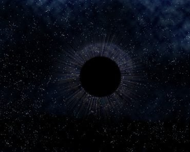 Illustration of a mysterious black hole in outer space(Paul Fleet)S