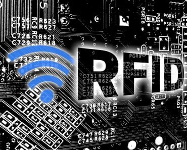 RFID with circuit board concept background(wsf-s)s