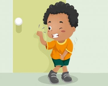 Illustration of a Kid Holding His Pee(Lorelyn Medina)s