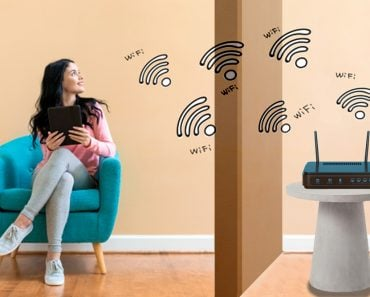 WiFi signals travel through walls.