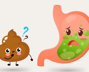 stomach and poop