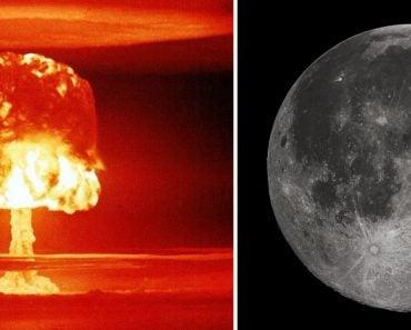 atom mushroom and moon