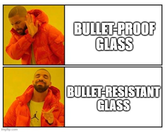 BULLET-PROOF GLASS; BULLET-RESISTANT GLASS