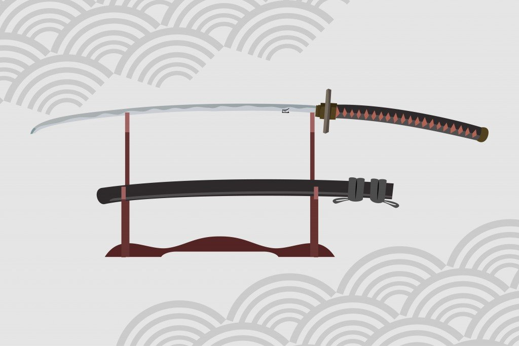 japanese nodachi sword vector illustration(joeni91)S