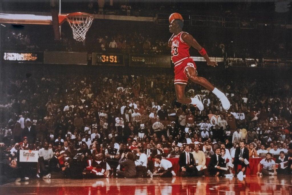 Jordan's famous dunk