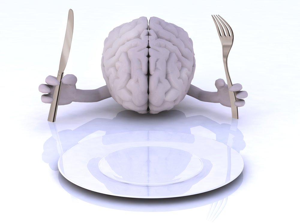 Brain with Hands and Utensil