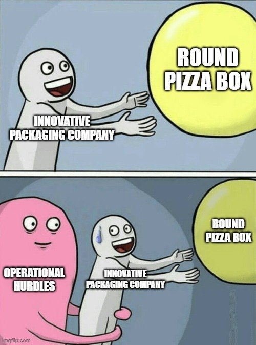 ROUND PIZZA BOX; INNOVATIVE PACKAGING COMPANY meme