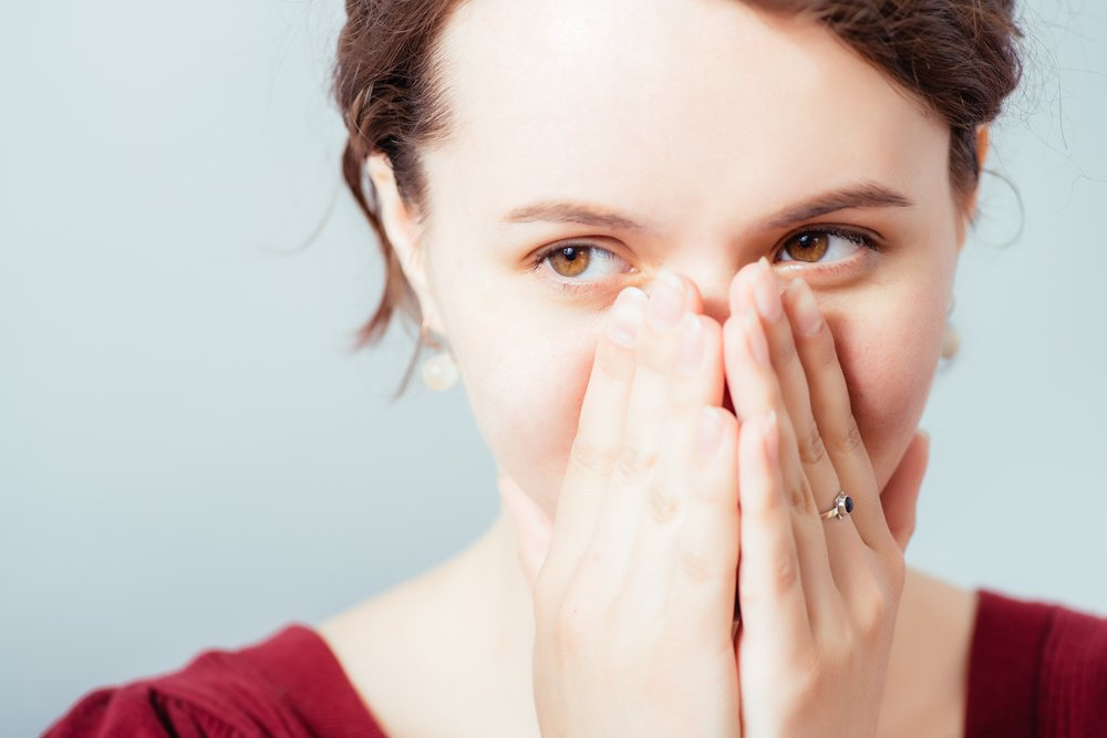 Blushing Woman