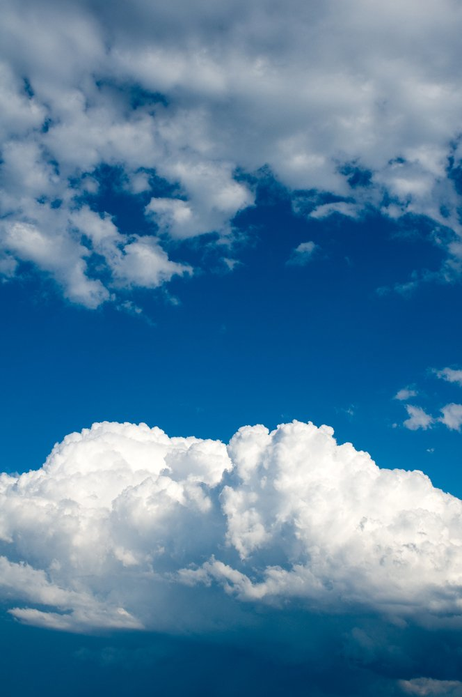 Credit: Stacy Newman/Shutterstock Doesn't the cloud look brighter compared to the darker sky?