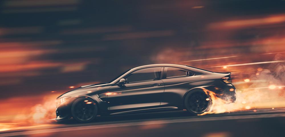High speed black sports car(ParabolStudio)S