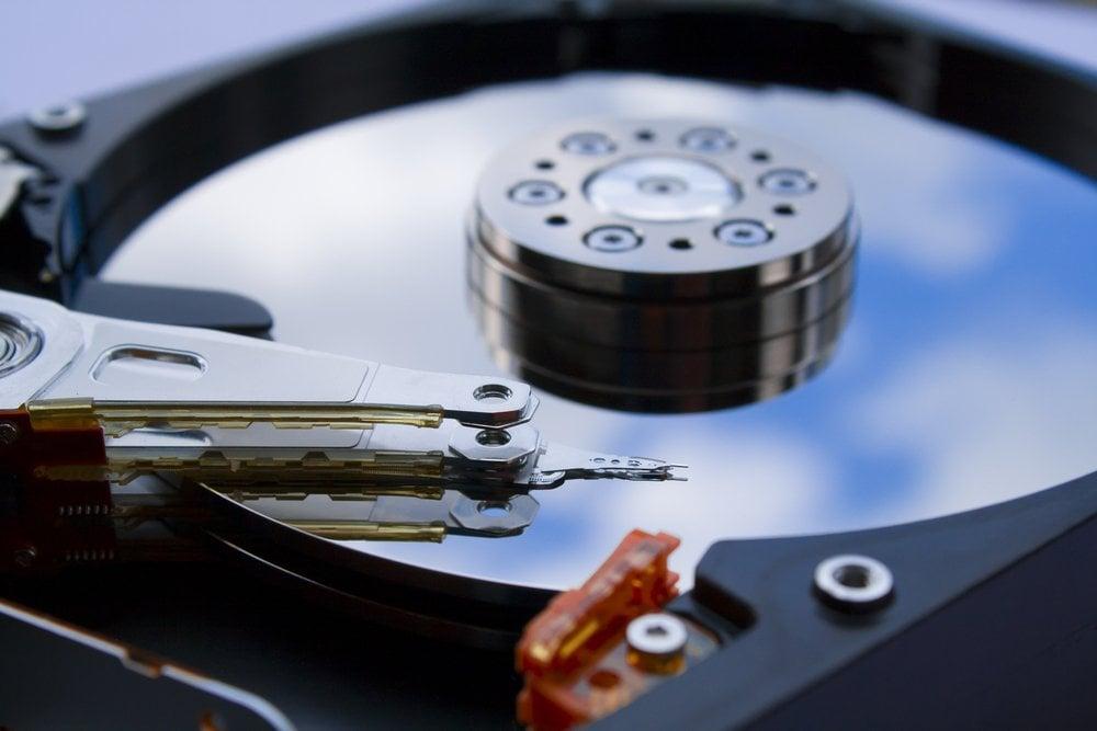 spinning hard disk