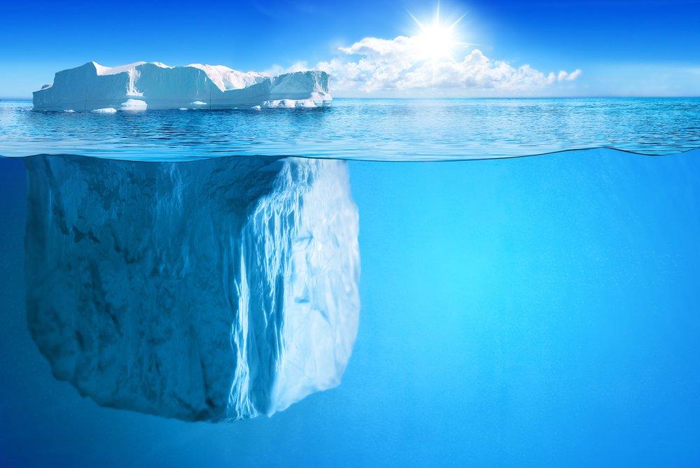 An iceberg (Credits: Niyazz/Shutterstock)
