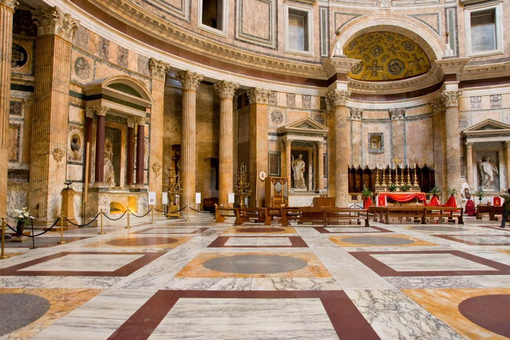 The massive space inside the Pantheon Credit: byggarn.se/shutershock