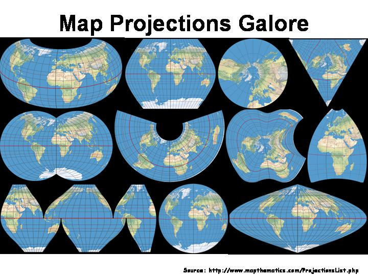 map projections: corrected world map