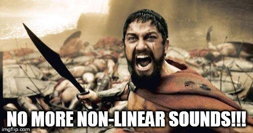 non linear sound meme