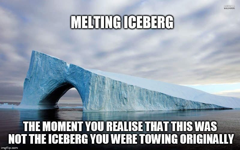 melting iceberg meme