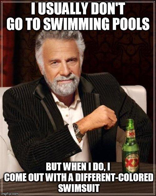 swimming pool meme