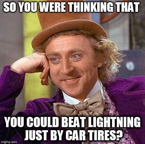 car tires meme