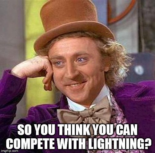 compete with lightning meme