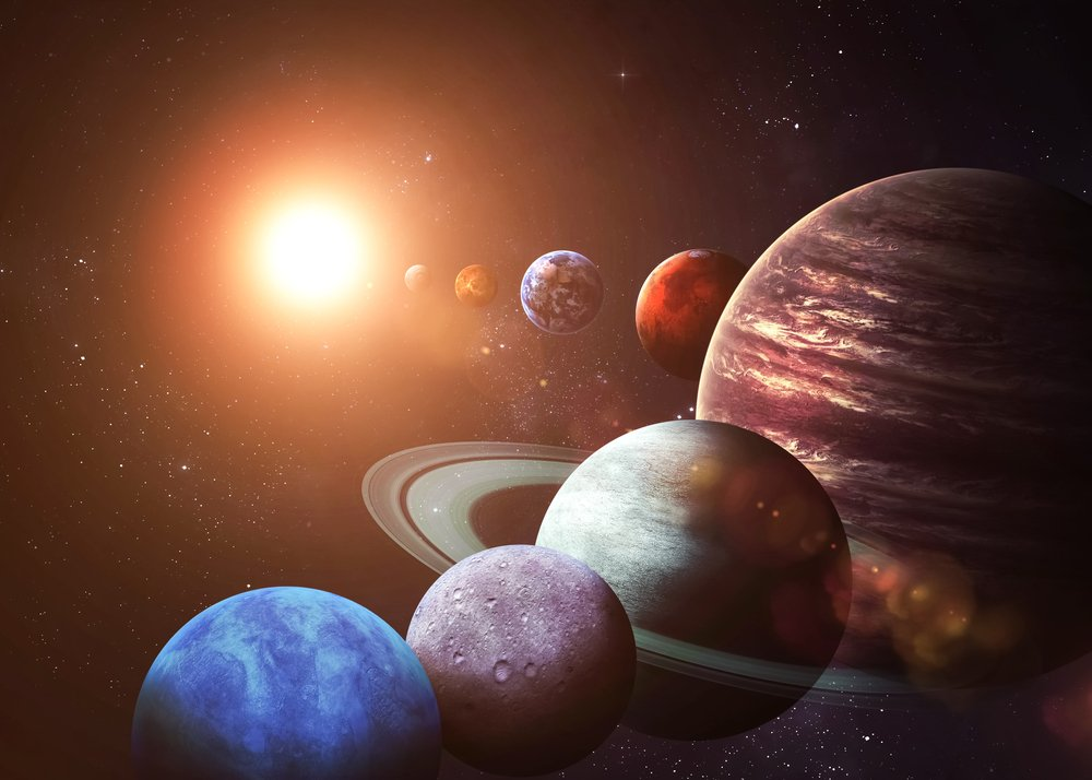 Solar system and space objects. Elements of this image furnished by NASA - Image