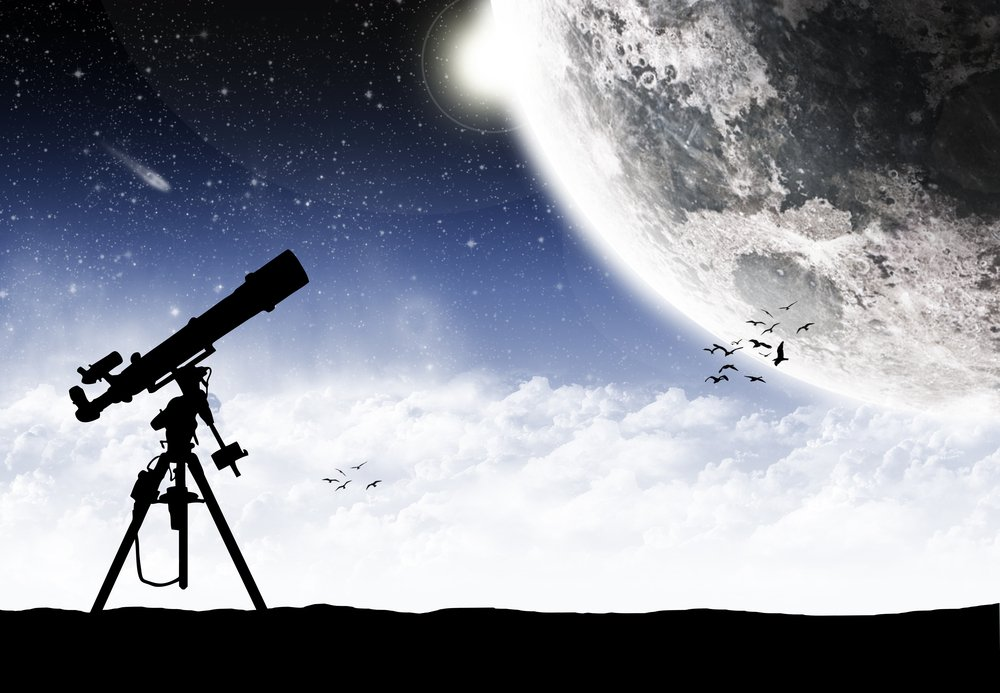 The telescopes are slightly larger than this.... Photo Credit: sdecoret / Shutterstock