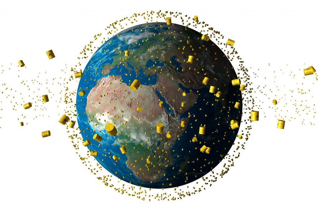 Waste in Space ( Photo Credit: visdia / Fotolia)