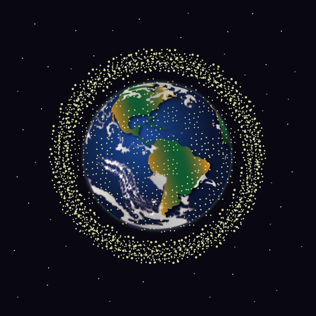 Space Debris in Orbit (Photo Credit: tokujiro / Fotolia)